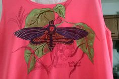 Hawkmoth painting t-shirt for Katelyn R.