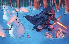 Kylo Ren Star Wars Le Réveil De La Force dessin fanart de Jeremiah Skipper