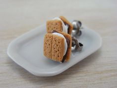 S'more Studs / Post Earrings by shayaaron on Etsy, ₪75.00