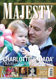 """Majesty/Joe Little on Twitter: """"Princess Charlotte and devoted 'Dada' are on the @MajestyMagazine November cover in a great pic by @ChrisJack_Getty."""