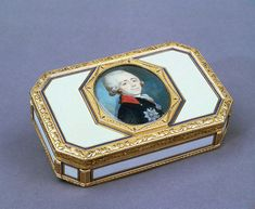 snuff box with portrait of grand duke pavel petrovich 1780