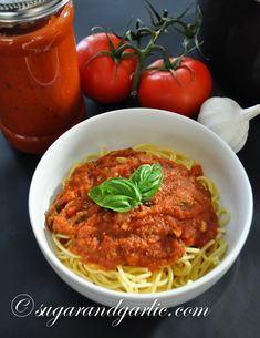 The Best Marinara Sauce (from scratch) made with a Vitamix! Easy, delicious, and authentic Italian recipe.
