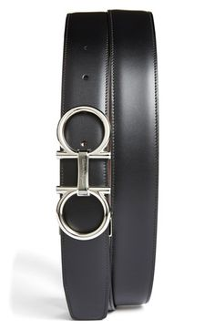Salvatore Ferragamo Double Gancio Reversible Leather Belt available at #Nordstrom