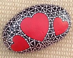 Hand Painted Rock - Valentine Gift