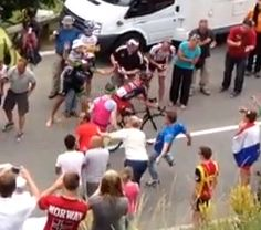 Video: Runner Gets Tripped While Interfering With The Tour De France