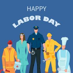 Labor Day Poster With People Of Different Occupations Over Background Standee Design, Watercolor Background, Vector Background, Labour Day, Business Card Psd, Green Business, Social Media Banner, Happy Labor Day, We Bare Bears