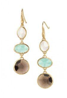 Cushion Drop Earrings: Cute Gold Earrings | Stella & Dot | Stella & Dot