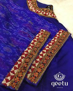 Blouse Designs Catalogue, Pattu Saree Blouse Designs, Simple Blouse Designs, Silk Saree Blouse Designs, Blouse Neck Designs, Floral Blouse, Hand Work Blouse Design, Maggam Work Designs, Embroidery Suits Design