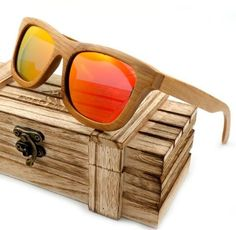 Vintage Wayfarer Style Bamboo Wooden Sunglasses Handmade Polarized Mirror Coating Lenses Eyewear sports glasses in Wood Box - SHOP now, Stock Limited! Wooden Sunglasses, Wayfarer Sunglasses, Polarized Sunglasses, Mirrored Sunglasses, Sunglasses Women, Sunglasses Accessories, Accessories Store, Travel Accessories, Fashion Accessories