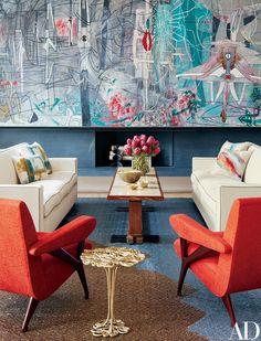 #living #coloresfuertes #architecturaldigest #robertomatta