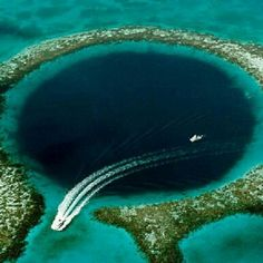 The Great Blue Hole near Ambergris Caye, Belize.