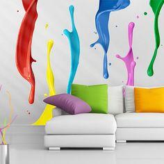 Diy anleitung knallbunte farbklecks wand anmalen via dawanda colour splash wall sticker set solutioingenieria Images