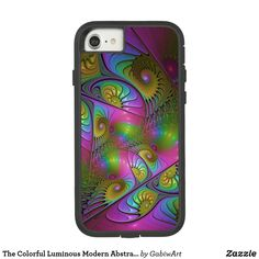 The Colorful Luminous Modern Abstract Fractal Art Case-Mate Tough Extreme iPhone 8/7 Case