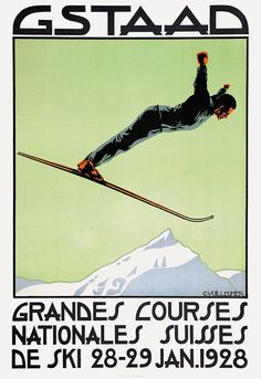 Vuilleumier C. - Gstaad - 1928 ( he runs because he heard the price of an expresso ! )