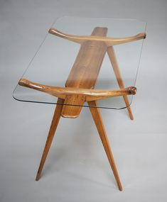 """Andrzej Pawłowski, """"Woven"""", table made by Antoni Fic, 1954, private collection, photo: Michał Korta"""