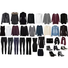 """33-Item Minimalist Winter Capsule Wardrobe"" by angela-otimo  A beautiful selection of work-appropriate and everyday casual winter pieces, from which can be created over than 50 outfits!You can do miracles with a minimalist closet!"