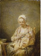 Nicholas-Bernard Lepicie  Mother Feeding her Child  France  1774-79  P464  Wallace Collection, London