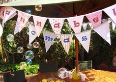 branded/personalised bunting for the client or individual