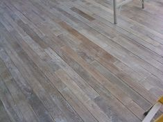 GRAY WOOD :: LOVE this antique reclaimed limed & waxed french white oak flooring