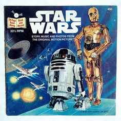Star Wars Buena Vista Records 450 Vinyl Record, US Pressing 33 rpm w/ 24 Page Read Along Book Film Star Wars, Star Wars 7, Star Wars Books, Maisie Williams, Star Wars Memorabilia, Vintage Vinyl Records, Star Wars Collection, Record Collection, A New Hope