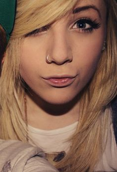 nose piercing and she is adorable! :3