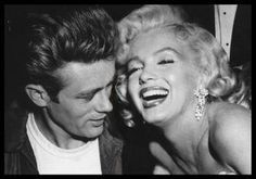 James Dean and Marilyn Monroe.
