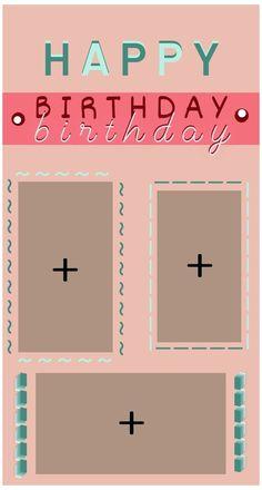 Happy Birthday Template, Happy Birthday Frame, Happy Birthday Posters, Happy Birthday Wallpaper, Happy Birthday Wishes Quotes, Birthday Posts, Birthday Frames, Birthday Captions Instagram, Birthday Post Instagram
