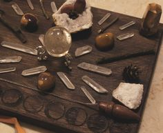 This grid began with a piece of wood, and a wood burner, and evolved into a stunning, sacred crystal grid perfect for warding off negative