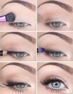 Nude eye makeup - how to