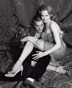 Ewan McGregor and Nicole Kidman photo shoot for Moulin Rouge
