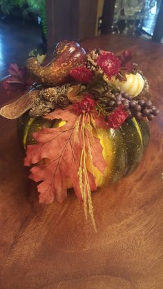 Fall Pumpkin Arrangement by JackRabbitsGarden on Etsy
