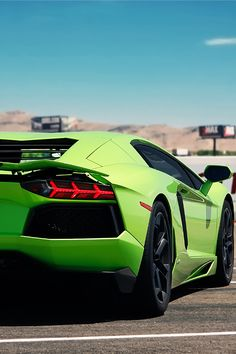 Lime Green Aventador.  Car of the Day: 27 February 2015.