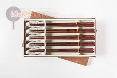 Набор: 5 пар палочек для еды с подставками (хасиоки) - премиум класс, деревянные, многоразовые
