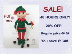 Christmas Elf amigurumi crochet pattern by jasminetoys on Etsy