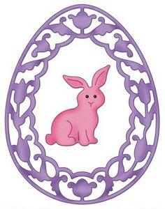 """CottageCutz -Spring Bunny Frame (4x4)metall dies.De er enkle å bruke og du får flotte detaljer til dine prosjekter.  Approximate Assembled Size:1.9"""" W x 2.6"""" H Denne diesen er ca 4""""x 4"""". Art.nr. SC-CC4x4-473 Adaptere/mellomlegg kan være nødvendig på noen maskiner.  Dette finner du under kategori: Verktøy - Cuttlehug Shimsplate. Er kompatibel med følgende maskiner: QuicKutz Revolution, Sizzix / Ellison ..."""