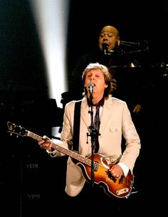 "Paul McCartney performs during his ""Out There"" tour stop at the Fargodome in Fargo, North Dakota, on July 12,2014"