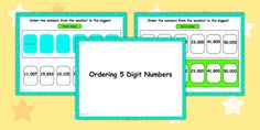 Ordering 5 Digit Numbers Flipchart Place Values, Bar Chart, Numbers, Activities, Bar Graphs