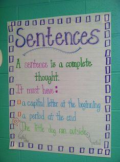 Sentence Anchor Chart