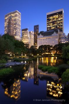 Twilight over Central Park and the buildings of Manhattan, New York City, USA. © Brian Jannsen Photography