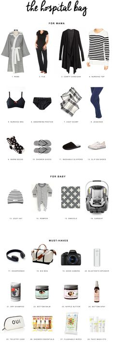 Copy Cat Chic | Everything you need and nothing you don't when packing your bag for the hospital for giving birth.