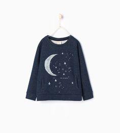 Image 2 of Shiny sweatshirt from Zara