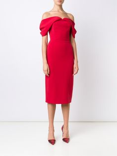 Christian Siriano off-the-shoulder dress