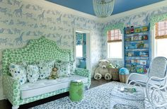 blue, green & white, such a fun child's room that they could grow into.... InGoodTaste: CarlaLaneInteriors - Design Chic