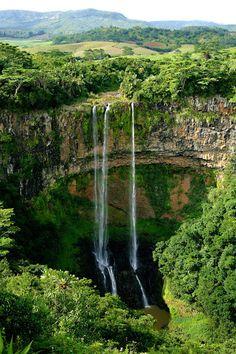 Tamarind Falls in Mauritius.