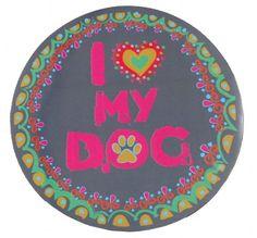 i love my dog car magnet