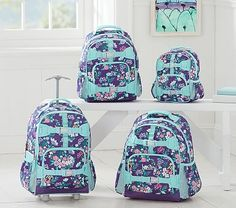 reagan - Mackenzie Purple Flower Bouquet Backpack #pbkids