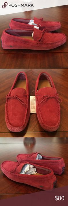 3094bd1b80 Lacoste driver loafers leather suede dress men new Brand new mens lacoste  driving loafer shoes.