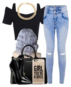 """""""."""" by trillest-queen ❤ liked on Polyvore featuring MICHAEL Michael Kors, Alessandra Rich and Casetify"""