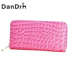 2017 New Women Leather Wallet Large Capacity Zipper Wallet Stone Pattern Ladies Purse