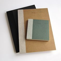 Love the super clean, stylie look of these notebooks.